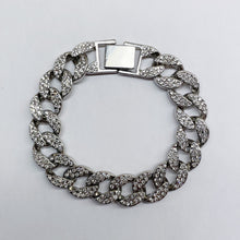Load image into Gallery viewer, Silver Icey Cuban Link Bracelet