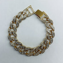 Load image into Gallery viewer, Gold Icey Cuban Link Bracelet