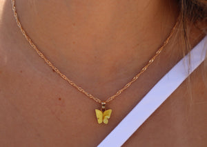 Acrylic Butterfly Gold Chain