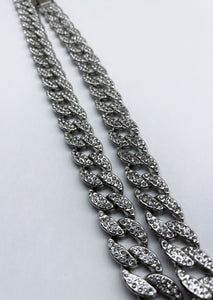 Silver Icey Cuban Link Chain