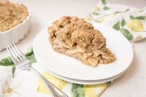 Whole Wheat Pie Crust with Apple Pie filling