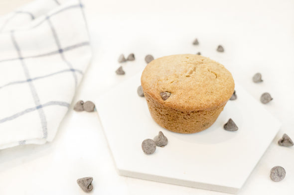 CHOCOLATE CHIP MUFFINS - Unsifted's Basic Berry Blend used for delicious Chocolate Chip Muffins