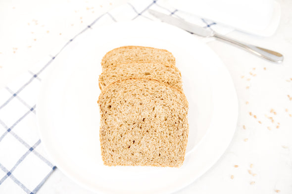 SIMPLE SANDWICH BREAD - Basic Berry Blend used in Unsifted's Getting Started Simple Sandwich Bread Recipe. This batch was shaped into sandwich bread in a 1 LB bread loaf pan.