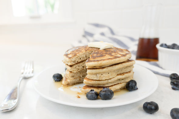 Fluffy Pancakes - made with Dessert Berry Blend