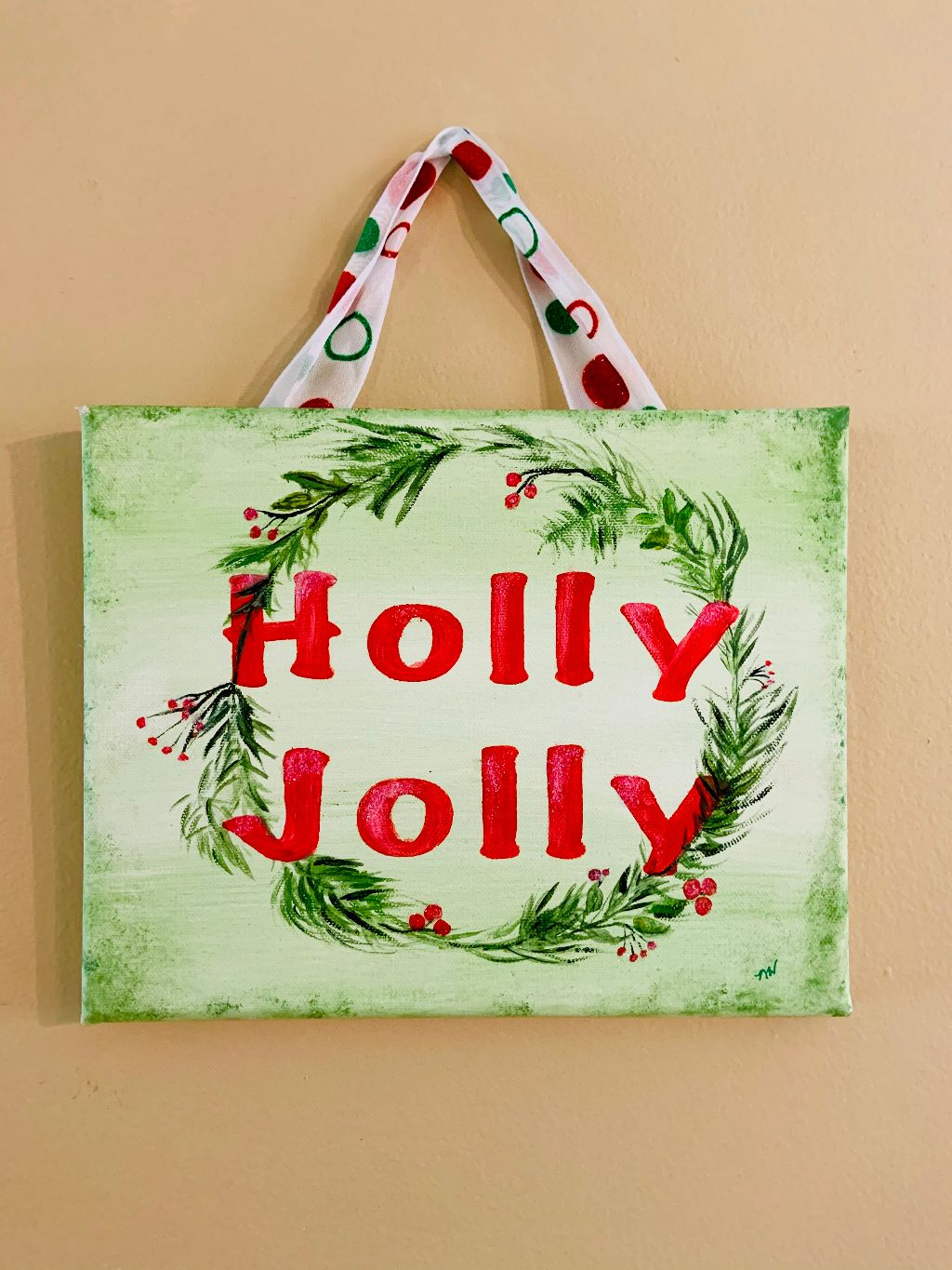 Holly Jolly Painting