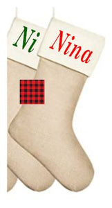 Burlap Personalized Stocking