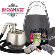 Tanning essentials Pro V spray tan machine package with tent solutions and disposables - Brown Bitz                                                                                                                                                            .