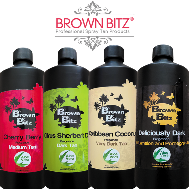 Brown Bitz Professional spray tan solution Trial bottles 100ml - Brown Bitz                                                                                                                                                            .