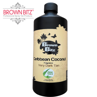 Brown Bitz Caribbean coconut Spray tan Solution 12% choose your size. - Brown Bitz                                                                                                                                                            .
