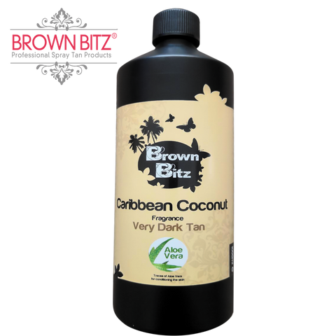 Brown Bitz Caribbean coconut Spray tan Solution 12% choose your size.
