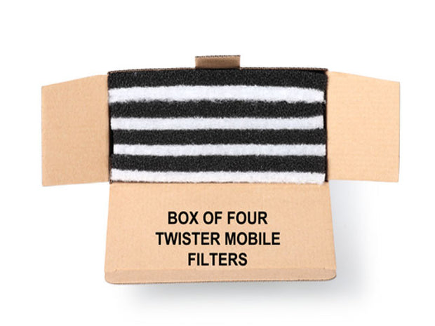 Replacement spray tan filters for twister mini extraction 4 in a pack - Brown Bitz                                                                                                                                                            .