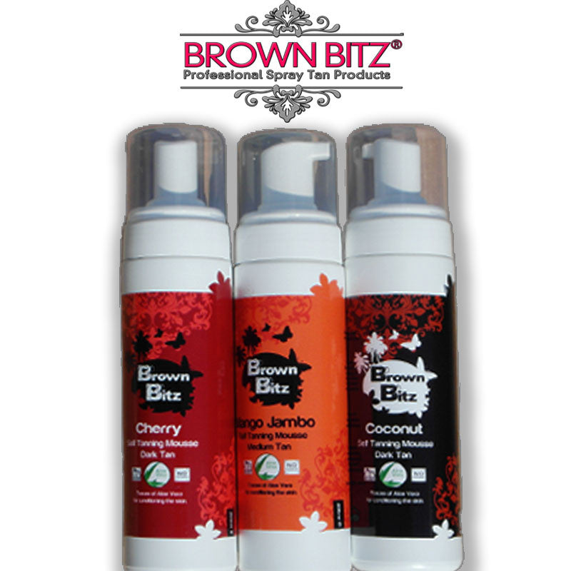Self tan mousse 200ml Bottle choose your tanning - Brown Bitz Spray Tan Solutions - 1