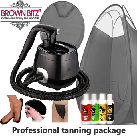 Pro V spray tan machine Package by tanning essentials_black