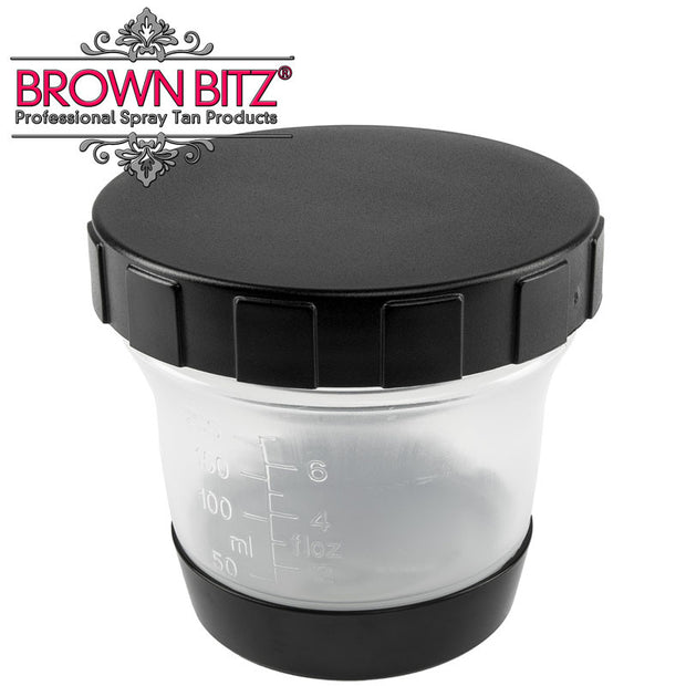 Allure spare spray tan solution pots with lid For spray tanning gun - Brown Bitz                                                                                                                                                            .