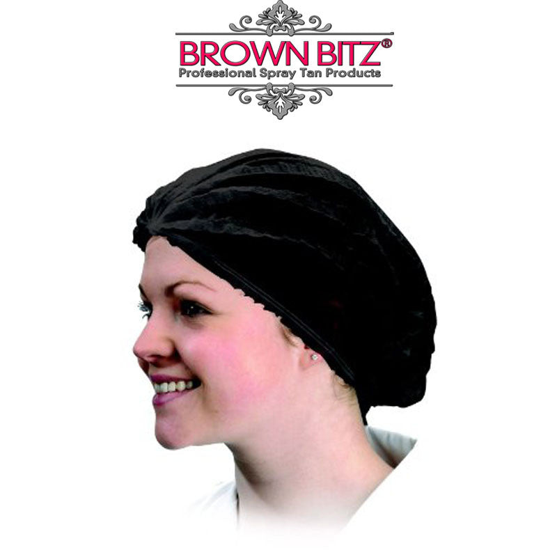 Disposable black hair nets for beauty salon and spray tanning choose quantity - Brown Bitz                                                                                                                                                            .