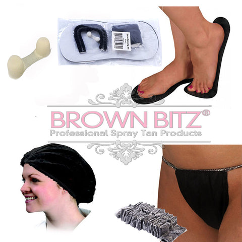 Individual Spray tan client disposable pack