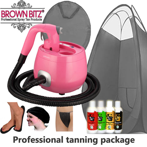 Pro V spray tan machine Package by tanning essentials_Fuscia