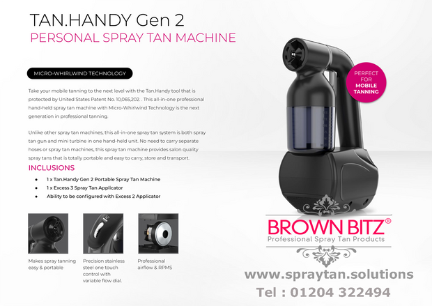 Hand held mobile professional spray tanning system Tan easy Next gen - Brown Bitz                                                                                                                                                            .