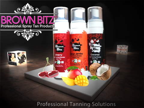 3 x  Best Tanning mousse Professional by Brown bitz