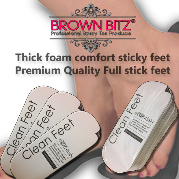 Spray Tan Premium branded tanning Foam sticky feet , foot  full length stick - Brown Bitz                                                                                                                                                            .