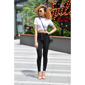 Melody Black Color Push Up Sexy Jeans Women 2019 Autumn Cotton Long Denim Jeans High Waist Skinny Jeans Woman Drop Shipping