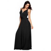 Carica l'immagine nel visualizzatore di Gallery, Convertible Bridesmaid Dress A-Line Bridesmaid Dress Sexy Vestido De Fiesta Robe De Soiree Elegant Formal Long Dress YSM-2035