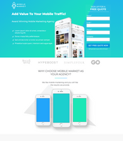 Mobile Marketing Unbounce Template - thumb