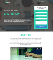 Advertising Agency Unbounce Template