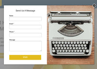 Cleaning Services Unbounce Template - Contact Form