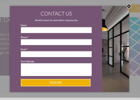 Interior Design Studio Unbounce Template - lightbox with the contact form (desktop version)