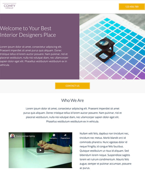 Interior Design Studio Unbounce Template - thumbnail