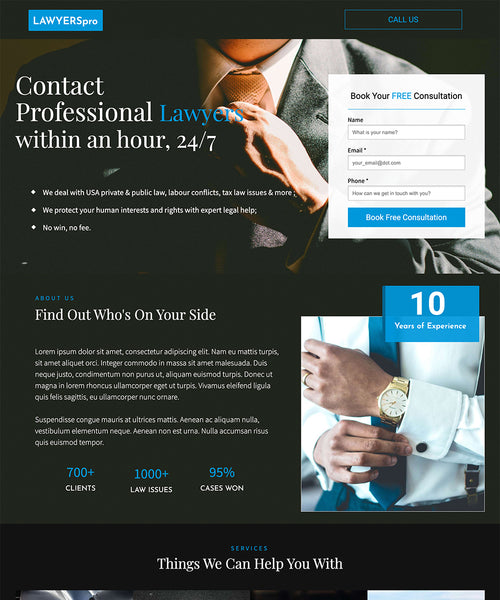 Lawyer Unbounce Template - thumb
