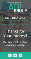 Advertising Agency Unbouns Template - thank you page - mobile version