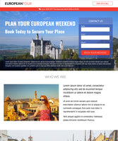 Travel Agency Unbounce Template - European Tour