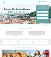 Travel Agency Unbounce Template