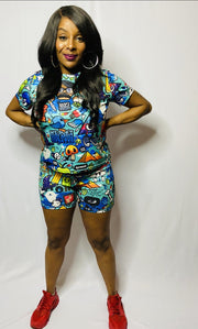 Danger 2pc Short Set
