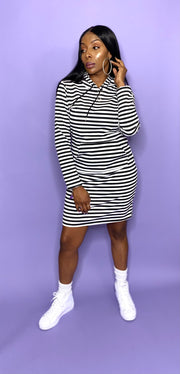 Hoodie Dress Striped