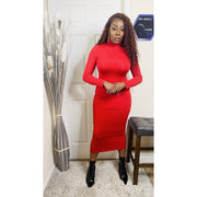 Lady Bodycon Dress (Red)