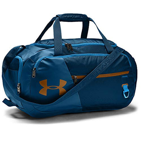 Under Armour Adult Undeniable Duffle 4.0 Gym Bag , Graphite Blue (581)/Yellow Ochre , Small