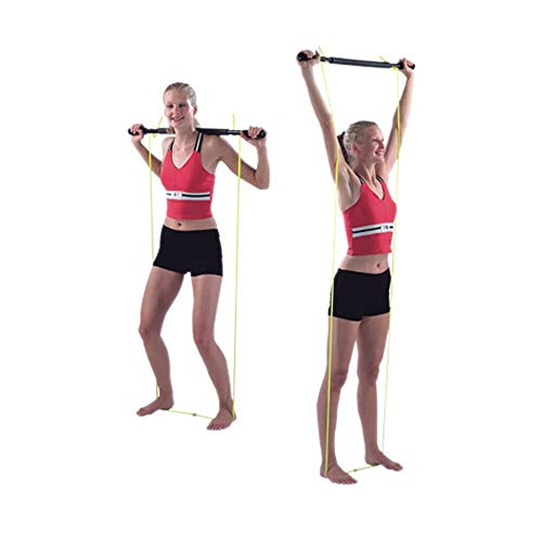 Cando Padded Unweighted Exercise Bar with Tubing, 2 lbs Capacity, Multi, 36 inches