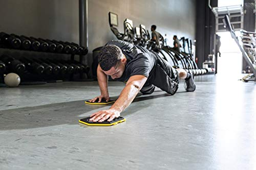 SKLZ Slidez Dual-Sided Exercise Glider Discs for Core Stability Exercises for Hands & Feet, Standard Use