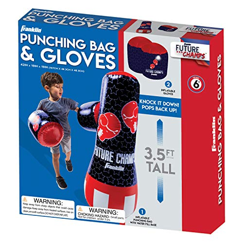 Franklin Sports Inflatable Punching Bag & Glove Set - Future Champs - 42 x 19 x 19 inches