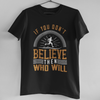 WHO BELIEVE -BLACK MEN ROUND NECK T-SHIRT