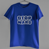 STOP WAR-ROYAL BLUE MEN ROUND NECK T-SHIRT