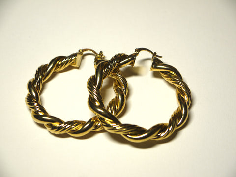Rope Twisted Hoops