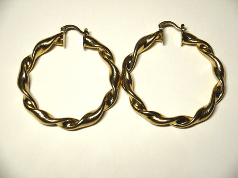 Plain Twisted Hoops