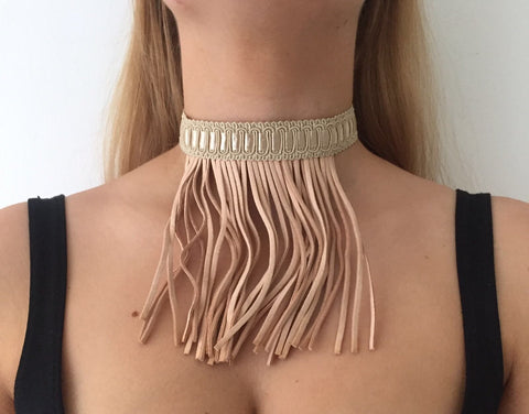 Jane with Tassles Choker