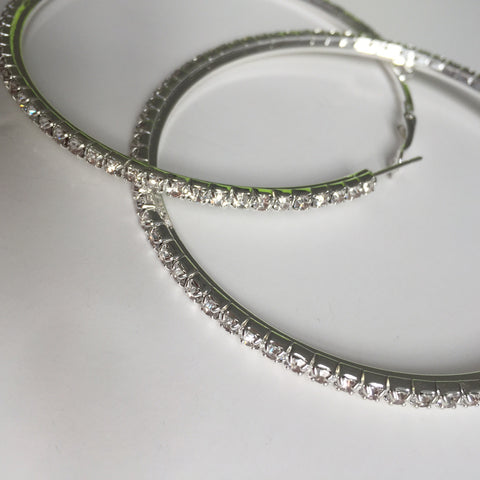 Diamanté Hoops