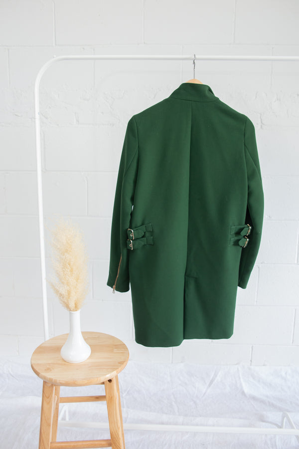 Zara Green Coat - XS