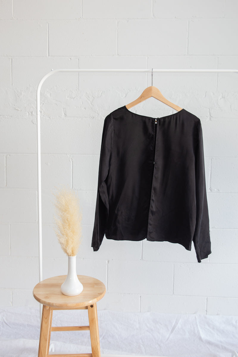 Wilfred Free Black Silk Blouse - M